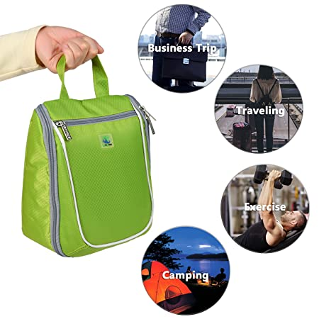 Goldwheat Waterproof Travel Toiletry Bag for Women  Men Cosmetic Travel  Organizer Hanging Toiletry Kit, Green GDTABaa02 Christmas Decoration dbf304d1e3