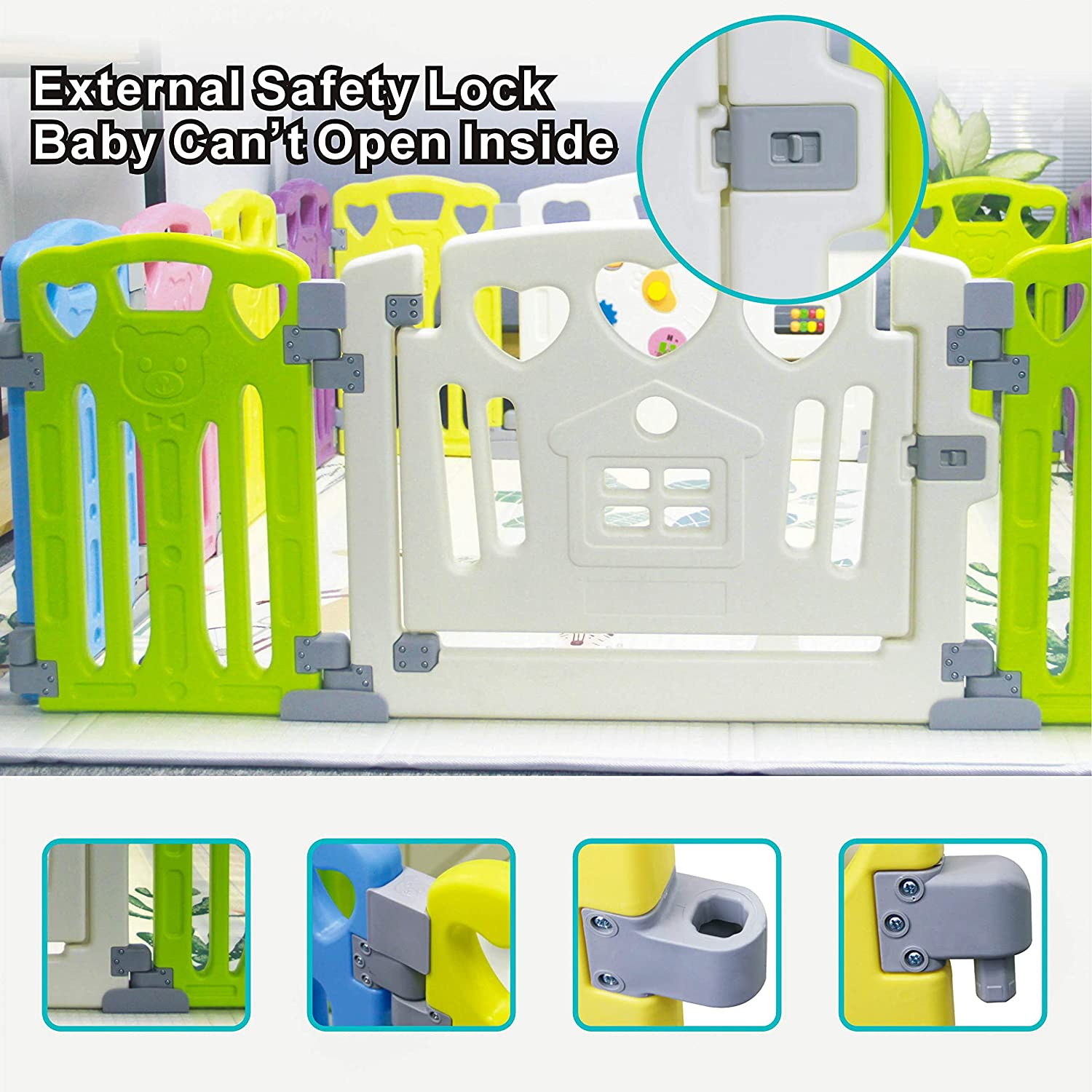 Classic Baby Playen Kids Activity Centre Safety Play Yard Home Indoor Outdoor With 14 Panels New Pen