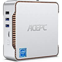ACEPC Mini PC, Intel Celeron J4125 Processor 8GB DDR4 / 256GB ROM Windows 10 Pro Mini Computer, Triple Screen Support/4K…