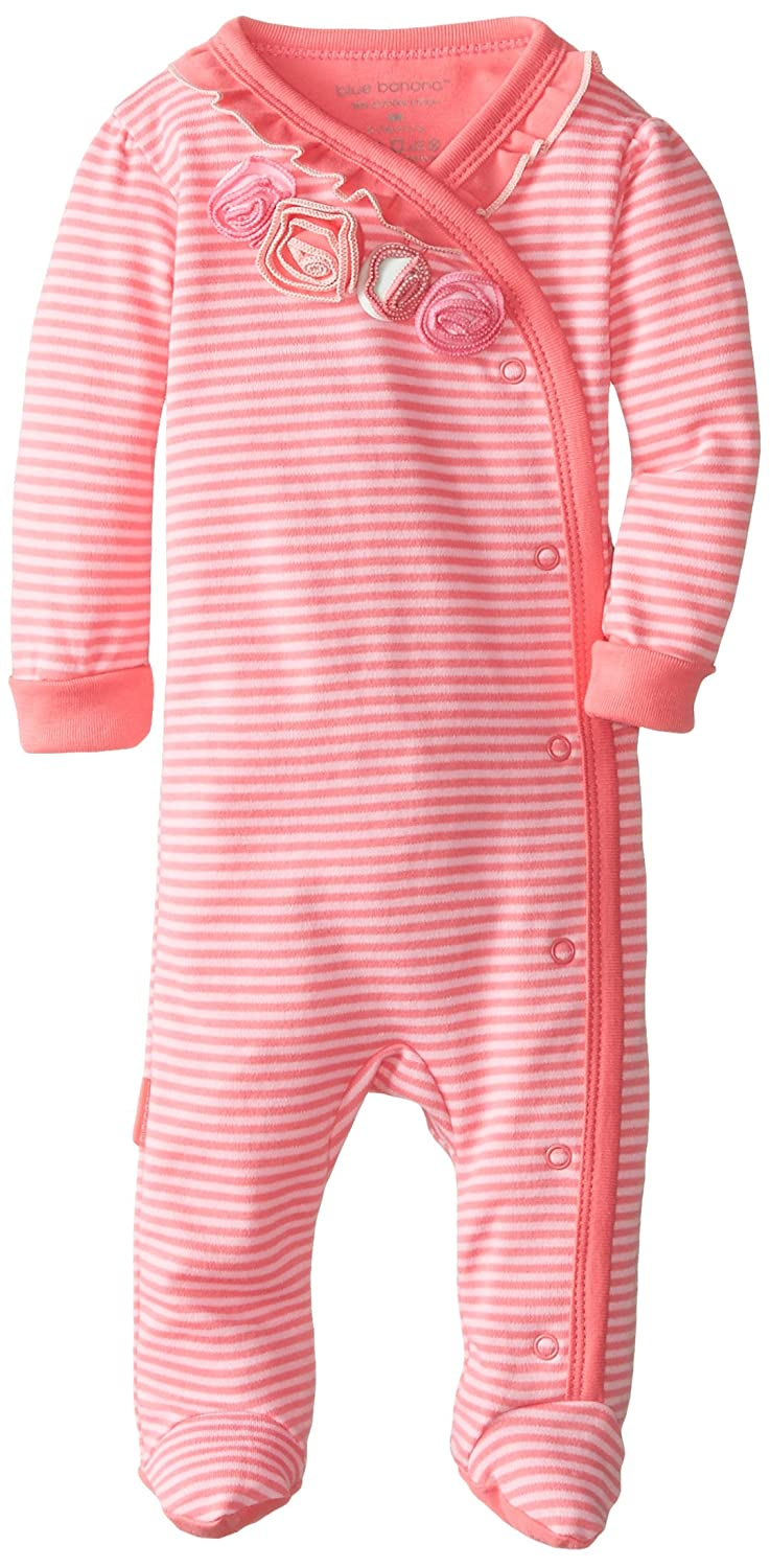 Kushies Baby Baby-Girls Newborn Side Zip Sleeper Pink Stripe L1480-80