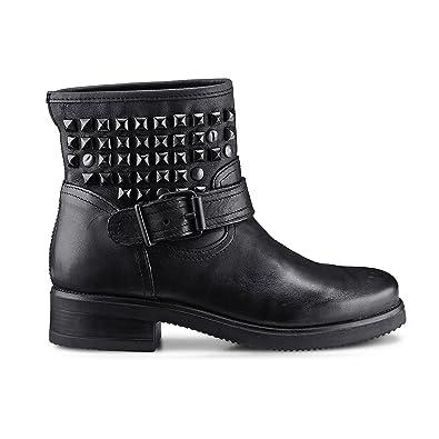 306407ff9c0d2c Another A Damen Damen Biker-Boots aus Leder
