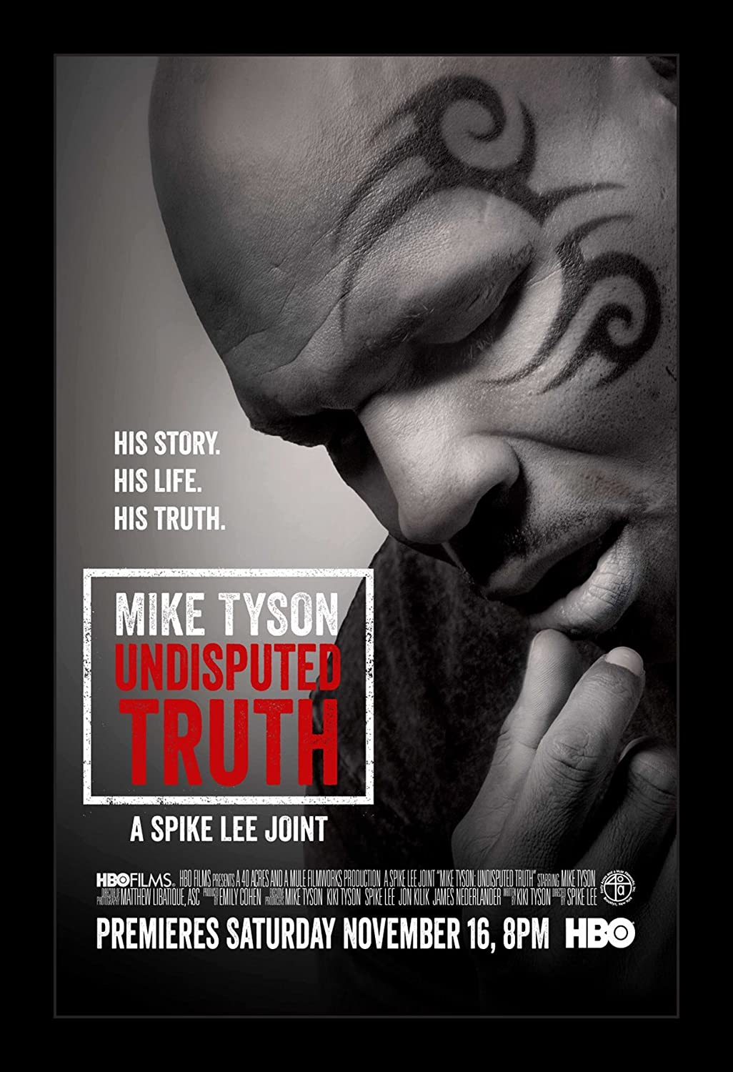 Amazon Com Wallspace Mike Tyson Undisputed Truth 11x17 Framed Movie Poster Posters Prints