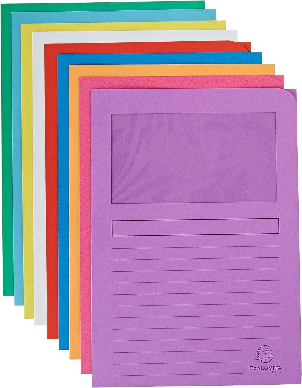 22x31 cm Exacompta 50100E Cartelle a L Multicolore