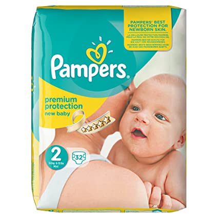 Pampers New Baby 32 Couches Taille 2 3 6 Kg Amazonfr Hygiène Et