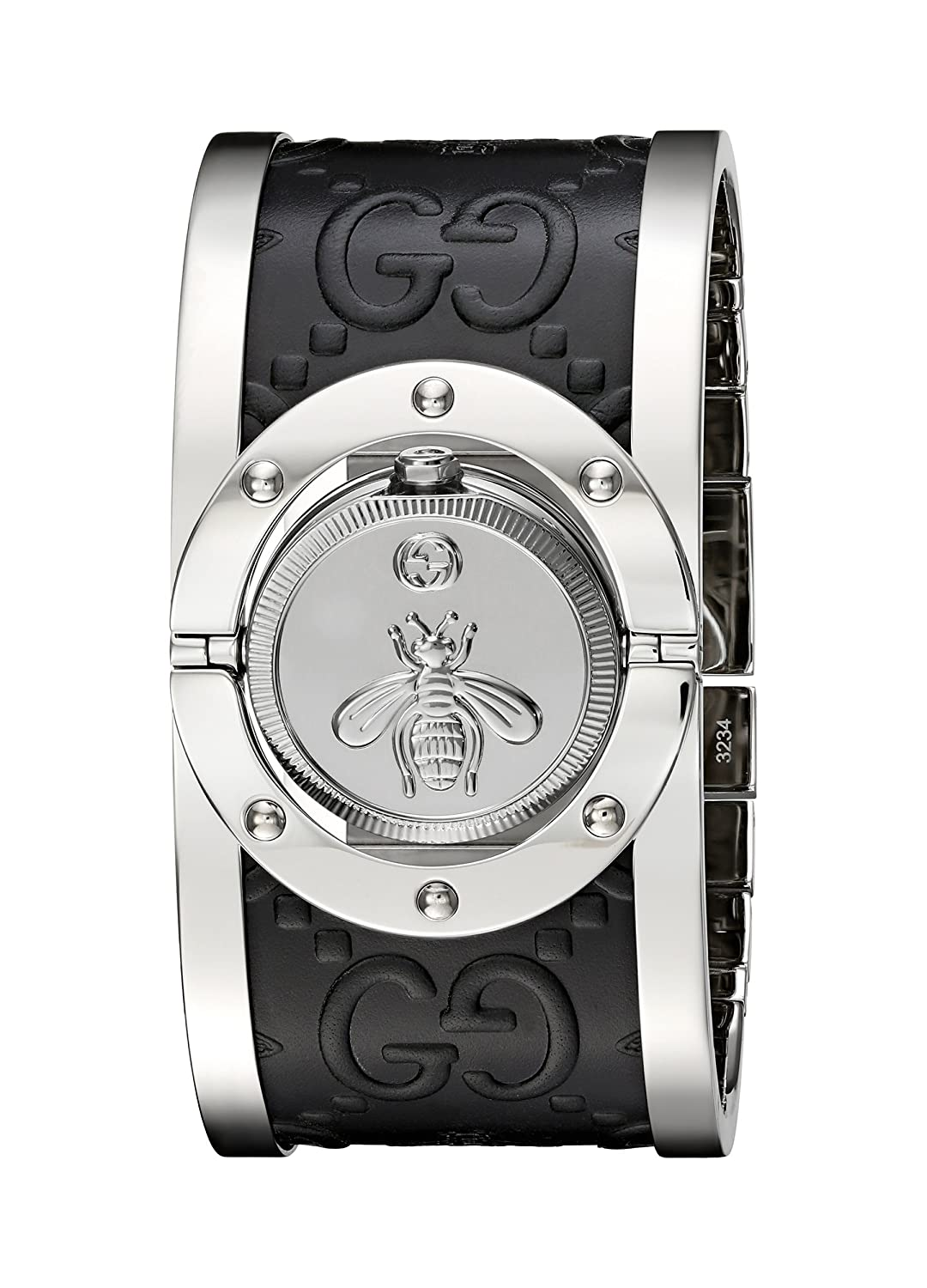 9cac476692e Amazon.com  Gucci  Twirl  Quartz Stainless Steel Silver-Toned Women s Watch(Model   YA112441)  Watches