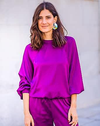 The Drop Sudadera de Satén por @Balamoda Pullover Sweaters Mujer