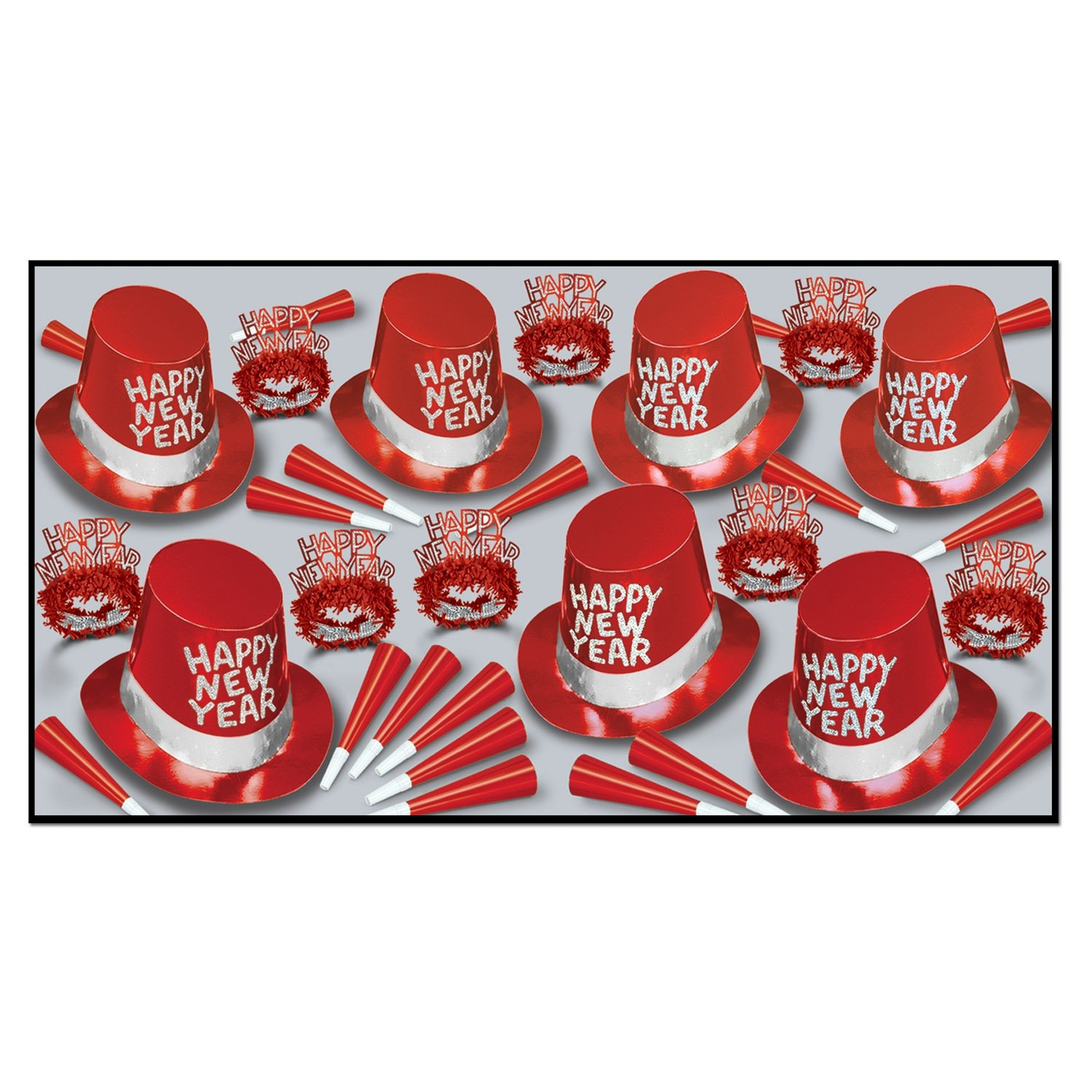 Beistle 88259-R50 Simply Red Party Favors, 1 Surtido por Paquete