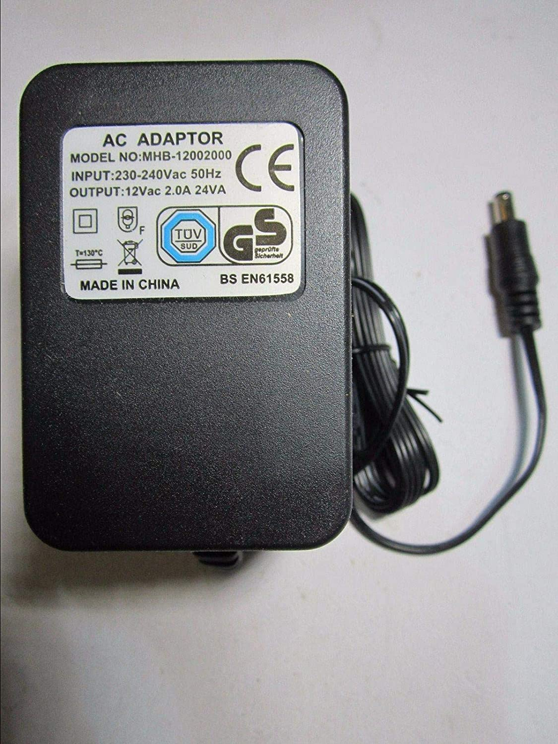 UK 12V AC 1000mA 1A AC Adaptor Power Supply for model MW41-1201000UKA ACAdaptorsRUS