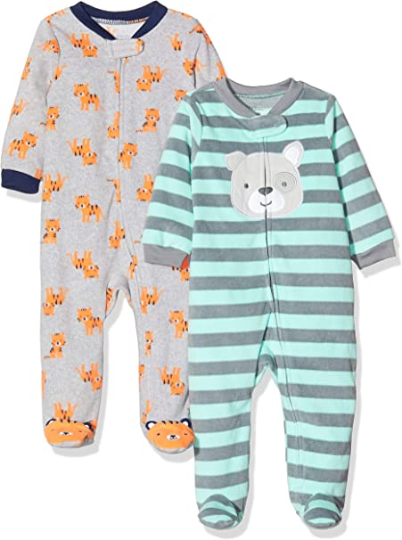 Simple Joys by Carters Baby-Jungen 2-Pack Fleece Footed Sleep and Play