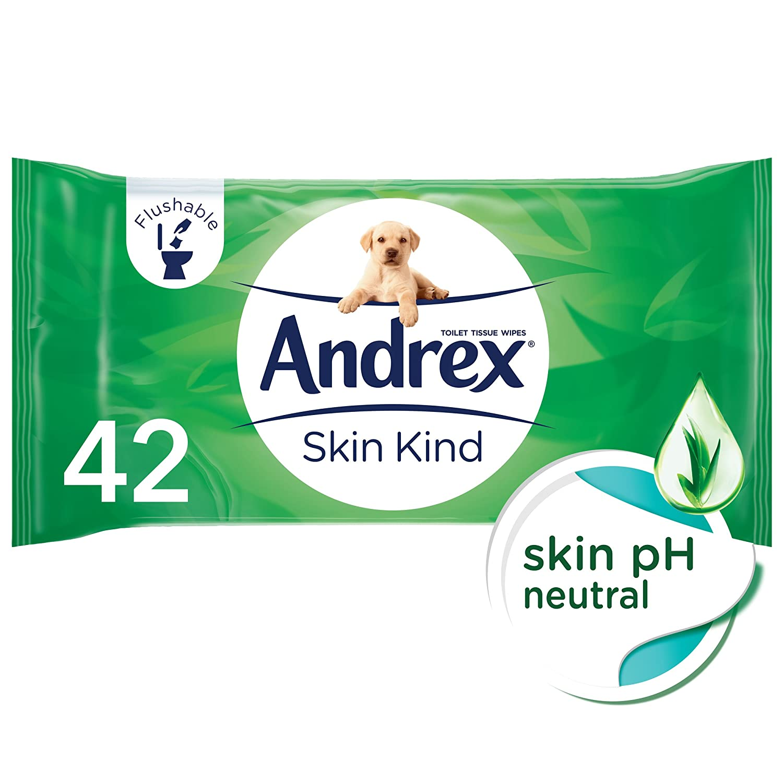 Andrex - Toallitas higiénicas desechables, se pueden tirar al WC: Amazon.es: Salud y cuidado personal