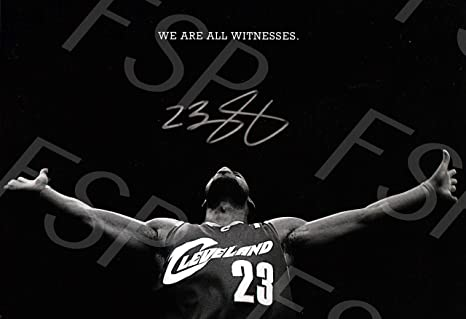 cbf34b787739e Amazon.com: Lebron James Autograph Replica Poster Print - Cleveland ...