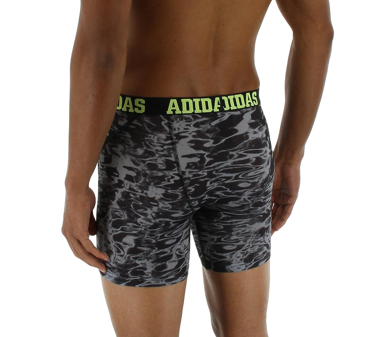 Adidas para Hombre Deporte Rendimiento Climacool 2 Pack Boxer Breve Ropa Interior - 975551, Black Ponder Print/Semi Solar Slime | Black/Semi Solar Slime: ...