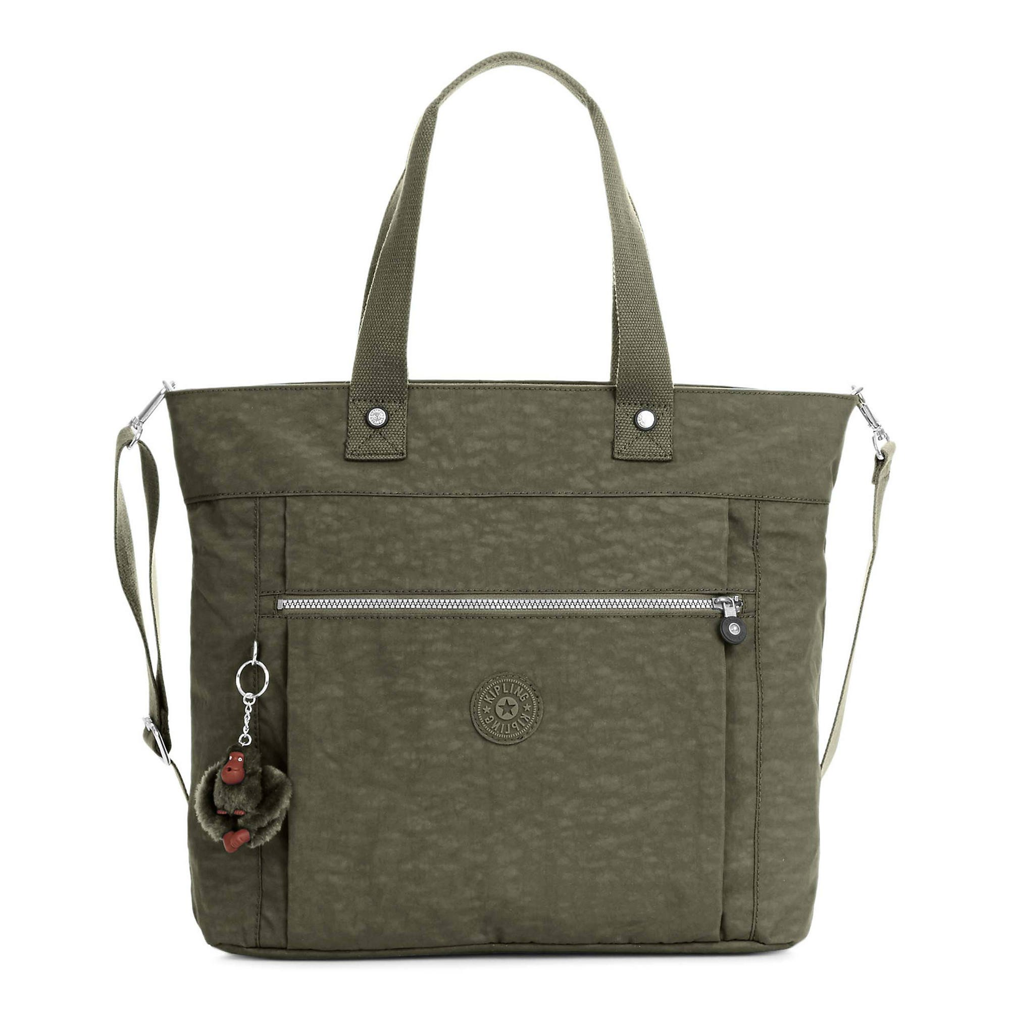 Kipling Lizzie Solid Laptop Tote Bag, Jaded Green