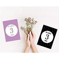 Láminas impresas CUMPLE MES   Lámina para celebrar el cumple mes   Recuerdo de crecimiento   Bebe recién nacido   Regalo…