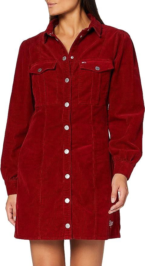 Tommy Hilfiger Damen Fitted Shirt Dress Kleid: Amazon.de