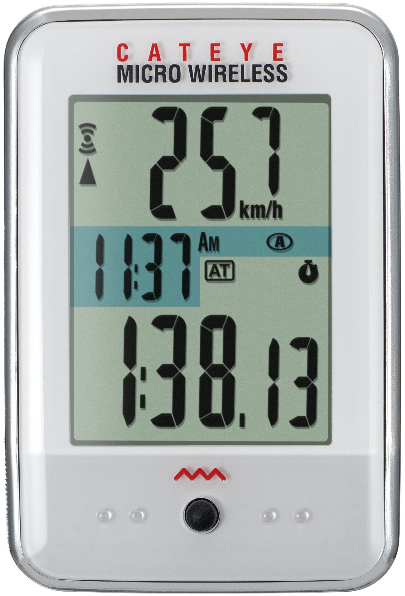 CatEye Micro Wireless Bicycle Computer CC-MC200W (White)