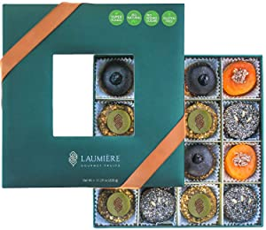 Laumière Gourmet Fruits - Superfood Parfait Collection - Healthy Gift Basket - Nutritious Recipes with Super Food, Fruits & Nuts - No Added Sugar - Gluten Free - Square