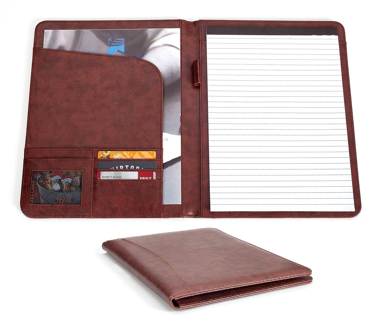 Professional Business Padfolio Portfolio Organizer Folder - Brown