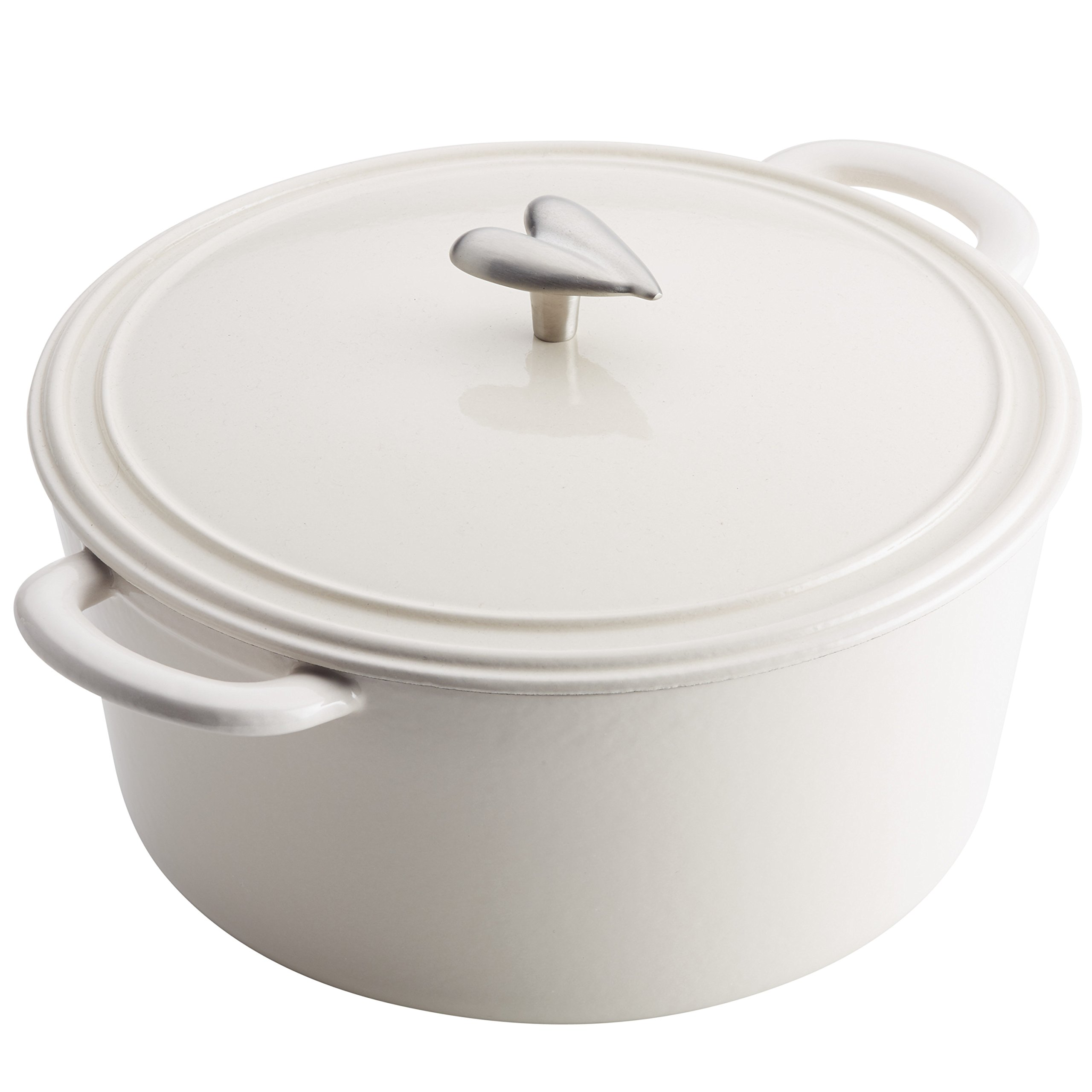 Ayesha Curry 47432 Cast Iron Dutch Oven, 6 Quart, French Vanilla by Ayesha Curry (Image #3)