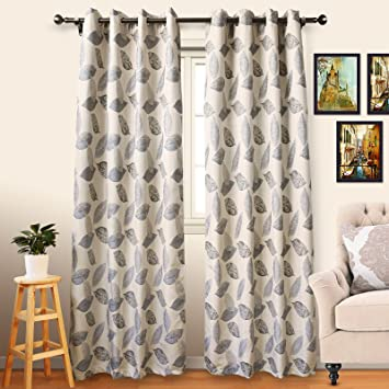 Eamior 96 Inches Long Blackout Curtains Sound Reducing Thermal Insulated Grommet Faux Linen Window Drapes For Bedroomliving Roompatio Door 2