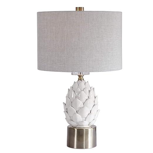 Amazon.com: Uttermost - Lámpara de mesa de alcachofa blanca ...