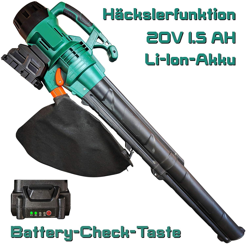 Aspiratore a batteria per fogliame, con trituratore DeTec.