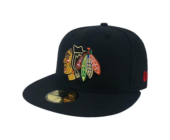 uk halpa myynti huippulaatua uusi luettelo Amazon.com: New Era 59Fifty Hat NHL Chicago Blackhawks ...