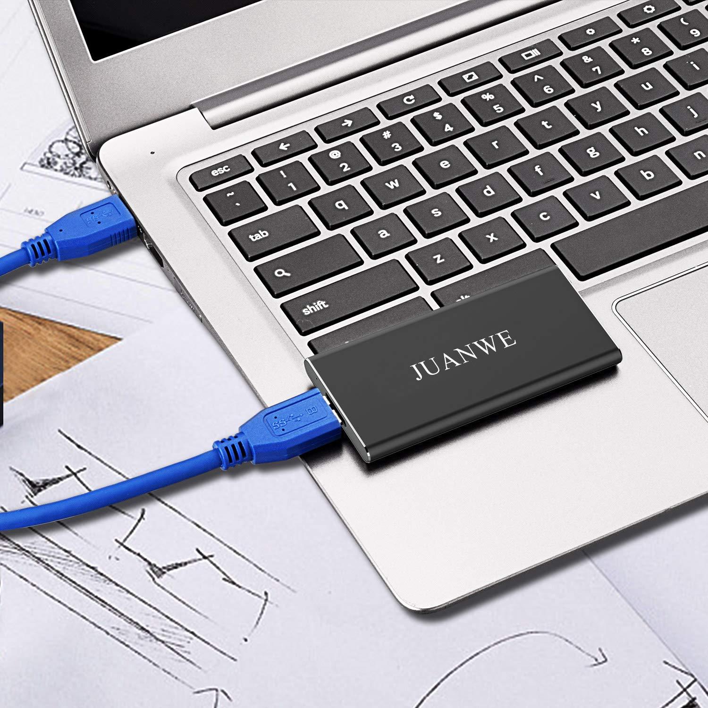 JUANWE 120GB USB 3.0 External Portable SSD, High Speed Read/Write Ultra Slim Solid State Drive - Black by JUANWE (Image #9)