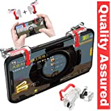 Easezap® Quality Guaranteed ●L1 R1 Dual Gamepad ●Trigger with Fire Shooter Controller Button ●Aim Key Mobile Gaming Joystick for ●PUBG/Knives Out/Rules of Survival (All Smartphones)
