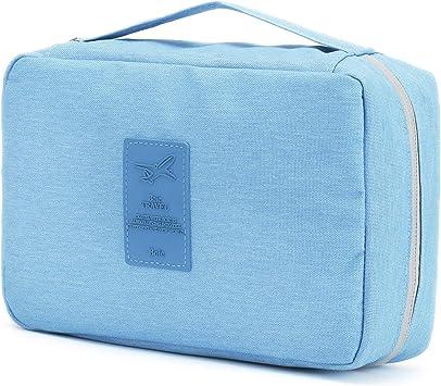 Neceser Viaje Hombre y Mujer, Boic Bolsas de Aseo Impermeable, Neceser Maquillaje Pack Neceser Baño Toiletry Kit, Cosmético Organizadores de Viaje, Travel Toiletry Wash Bag - Azul: Amazon.es: Equipaje