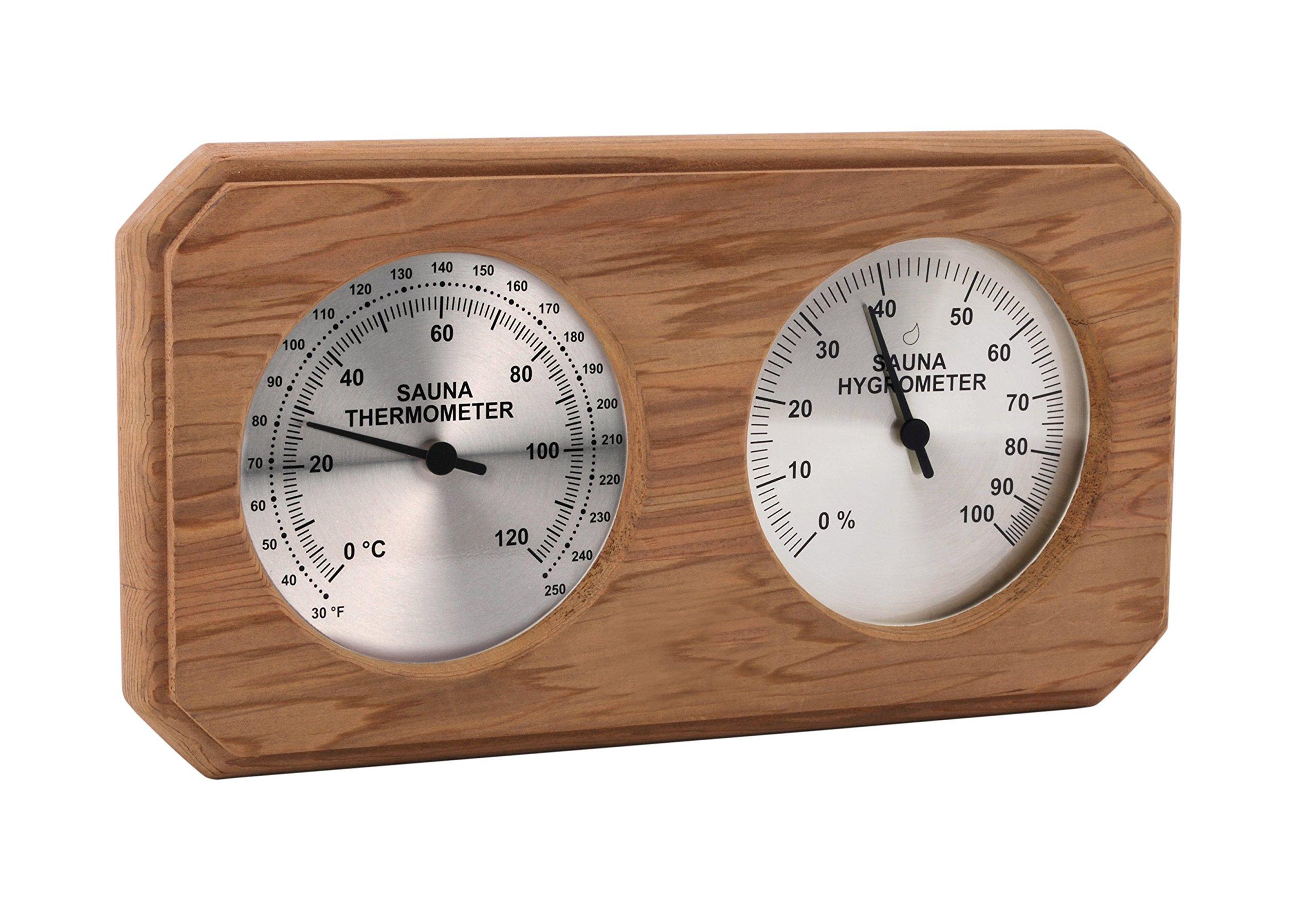 Cedar Encased Thermometer/Hygrometer C-F (10'' x5 1/2'')