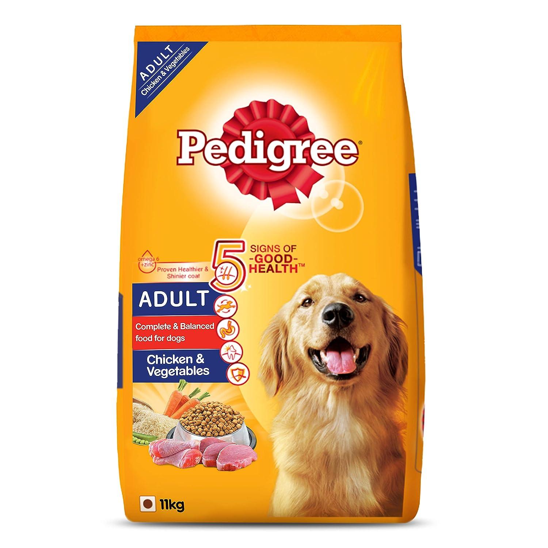 Pedigree Adult Dry Dog Food, Chicken & Vegetables, 11Kg Pack