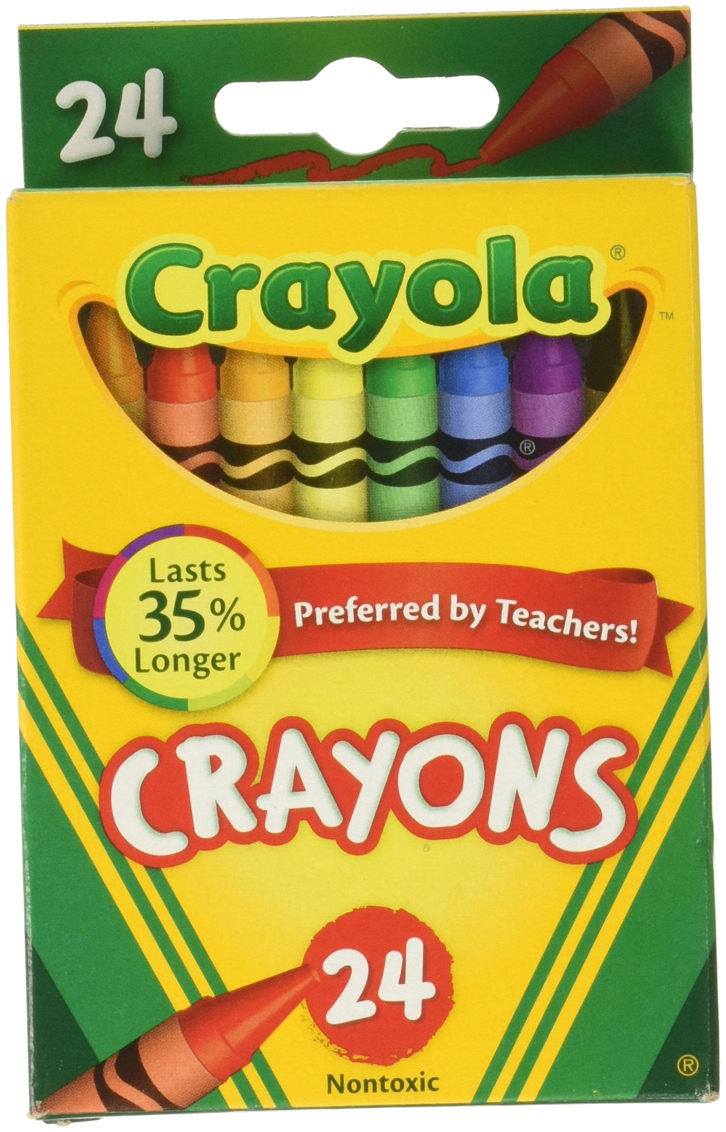 Crayola Crayons 24 Colors, (Pack of 6) by Crayola