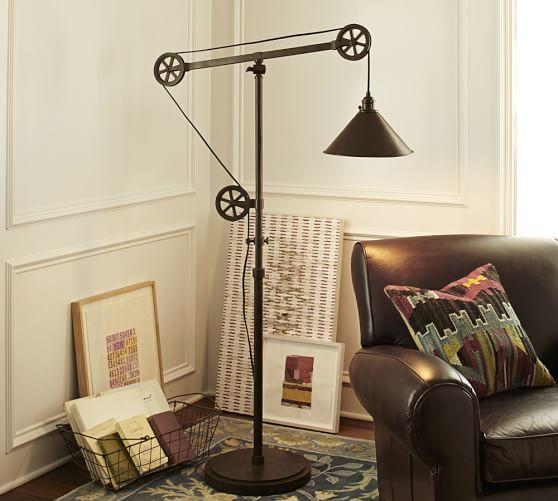 Warren Pulley Task Floor Lamp | Pottery Barn
