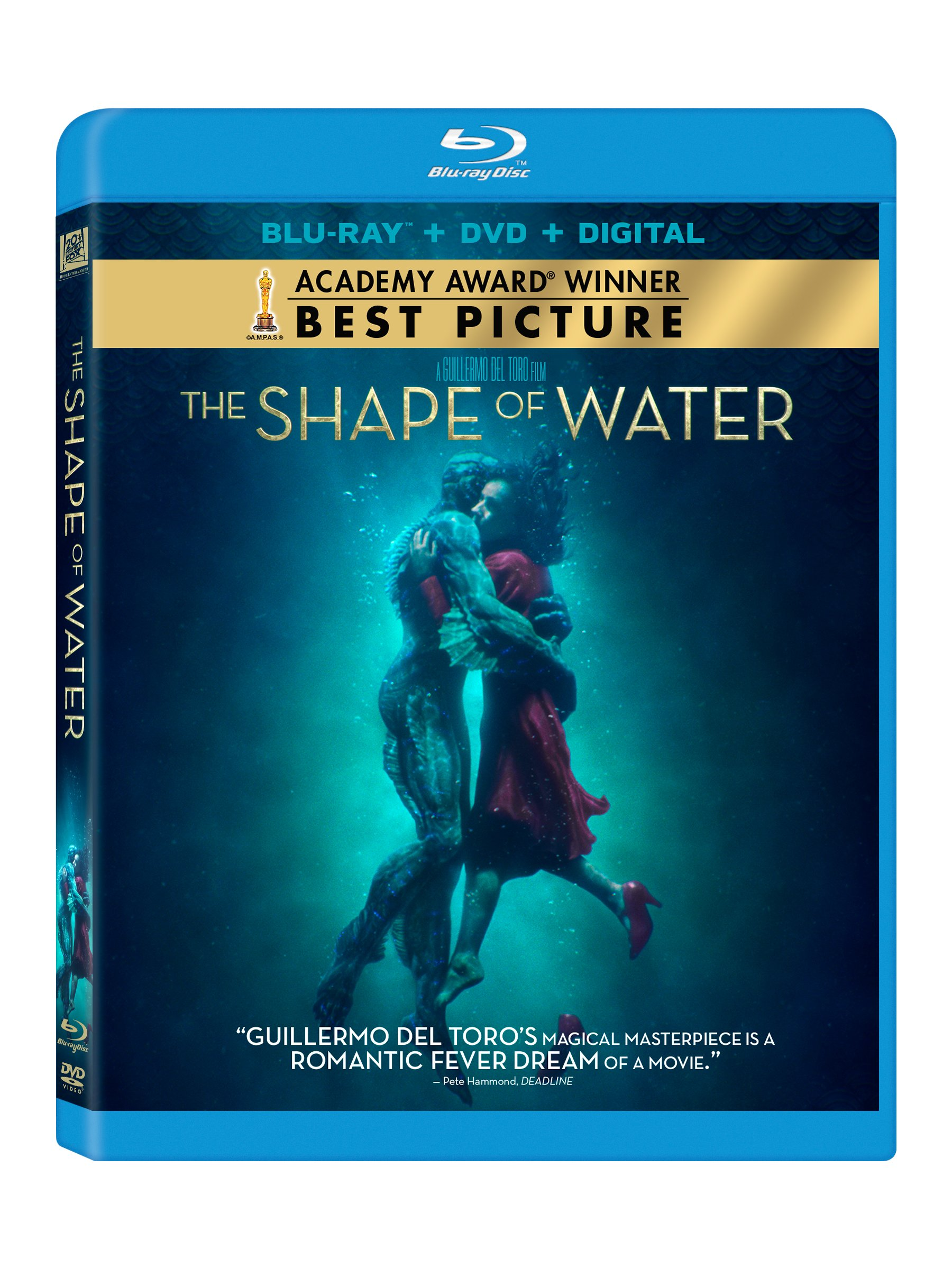 Blu-ray : The Shape of Water (With DVD, Digitally Mastered in HD, , Digital Theater System, 2 Pack)