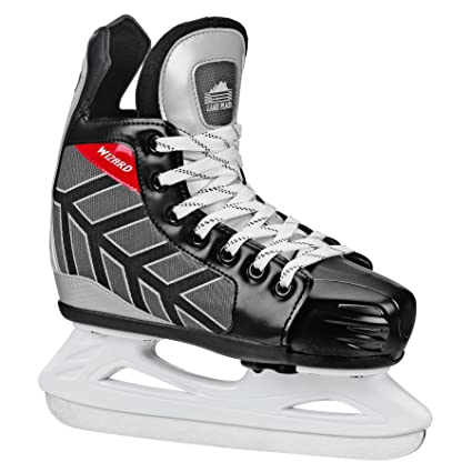 c25628dc34a Amazon.com   Lake Placid WIZARD 400 Youth Ice Hockey Skates with Adjustable  Sizing   Childrens Ice Skating Skates   Sports   Outdoors