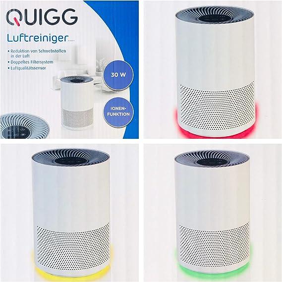 Purificador de aire / 30 W; Doble sistema de filtro: Filtro EPA y ...