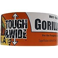 Gorilla 6025302 cinta adhesiva para conductos blanca rígida y ancha, 25 yardas