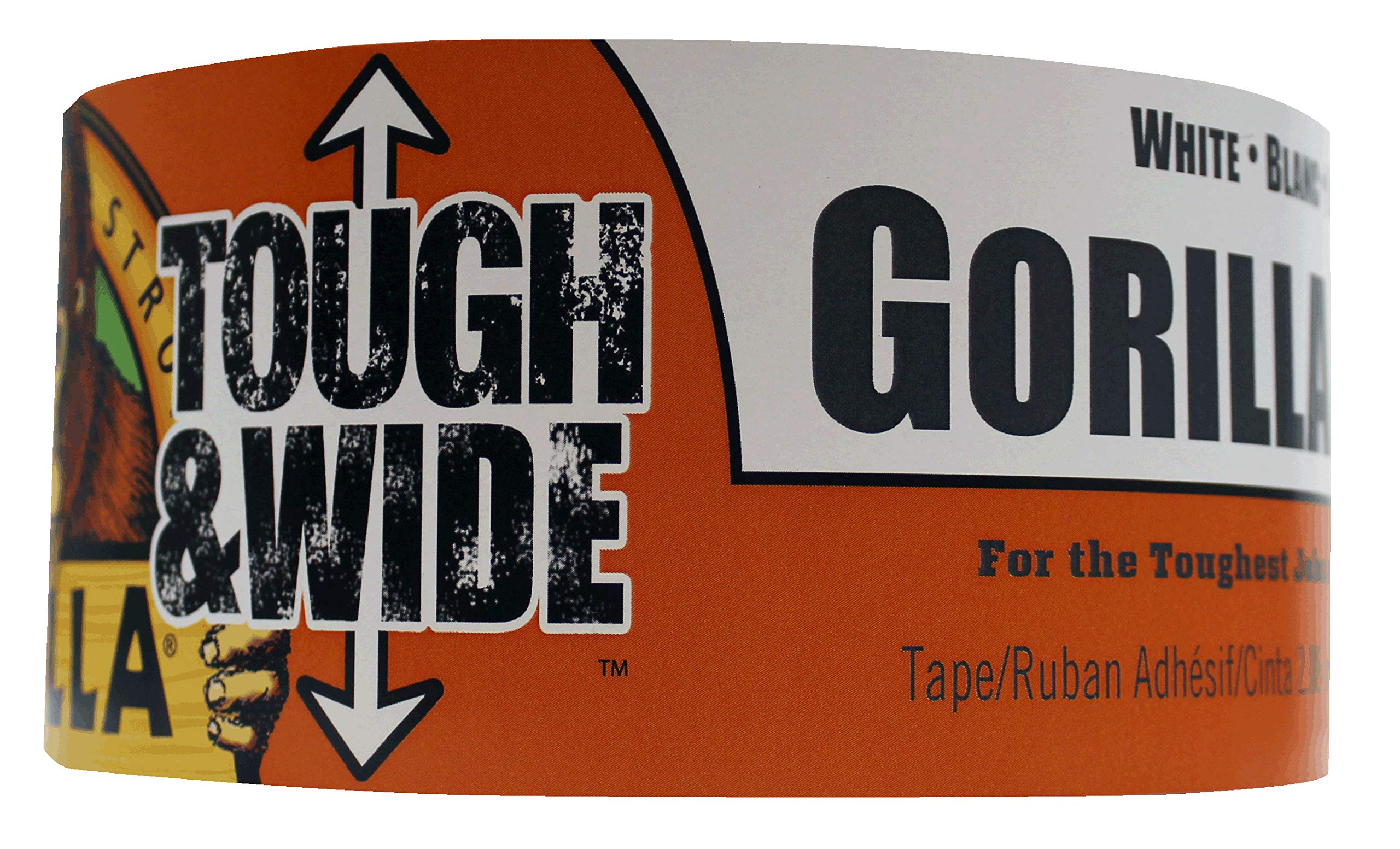 Gorilla 6025302 White Tough & Wide Duct Tape, 1 - Pack, by Gorilla (Image #1)