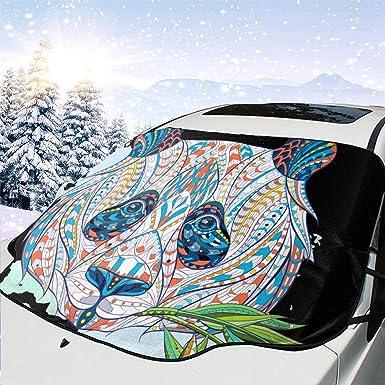 Panda Totem indio africano diseño tatuaje cubierta de nieve del ...