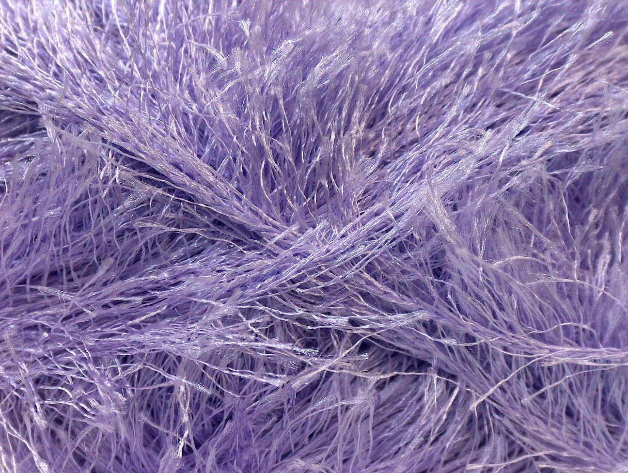 Lot of 4 x 100gr Skeins ICE YARNS Eyelash 100gr Light Lilac GSC Tekstil 191593294287