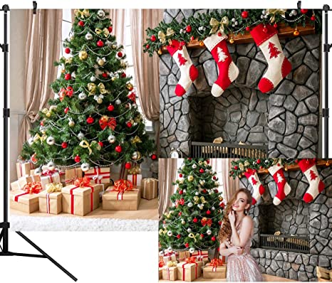 GoEoo 10X10FT Seamless Christmas Theme Pictorial Cloth Customized Photography Backdrop Background Studio Prop GA33A