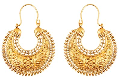 Buy touchstone indian bollywood pretty fringes and floral theme touchstone indian bollywood pretty fringes and floral theme ethnic south indian chandbali moon bridal designer jewelry mozeypictures Image collections