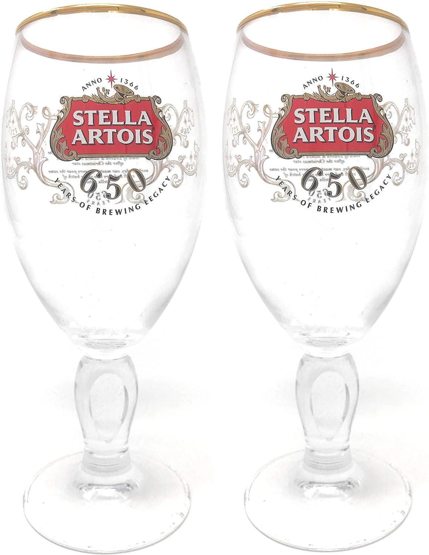 Stella Artois Bicchiere da pinta 2 bicchieri 650 anni edizione speciale