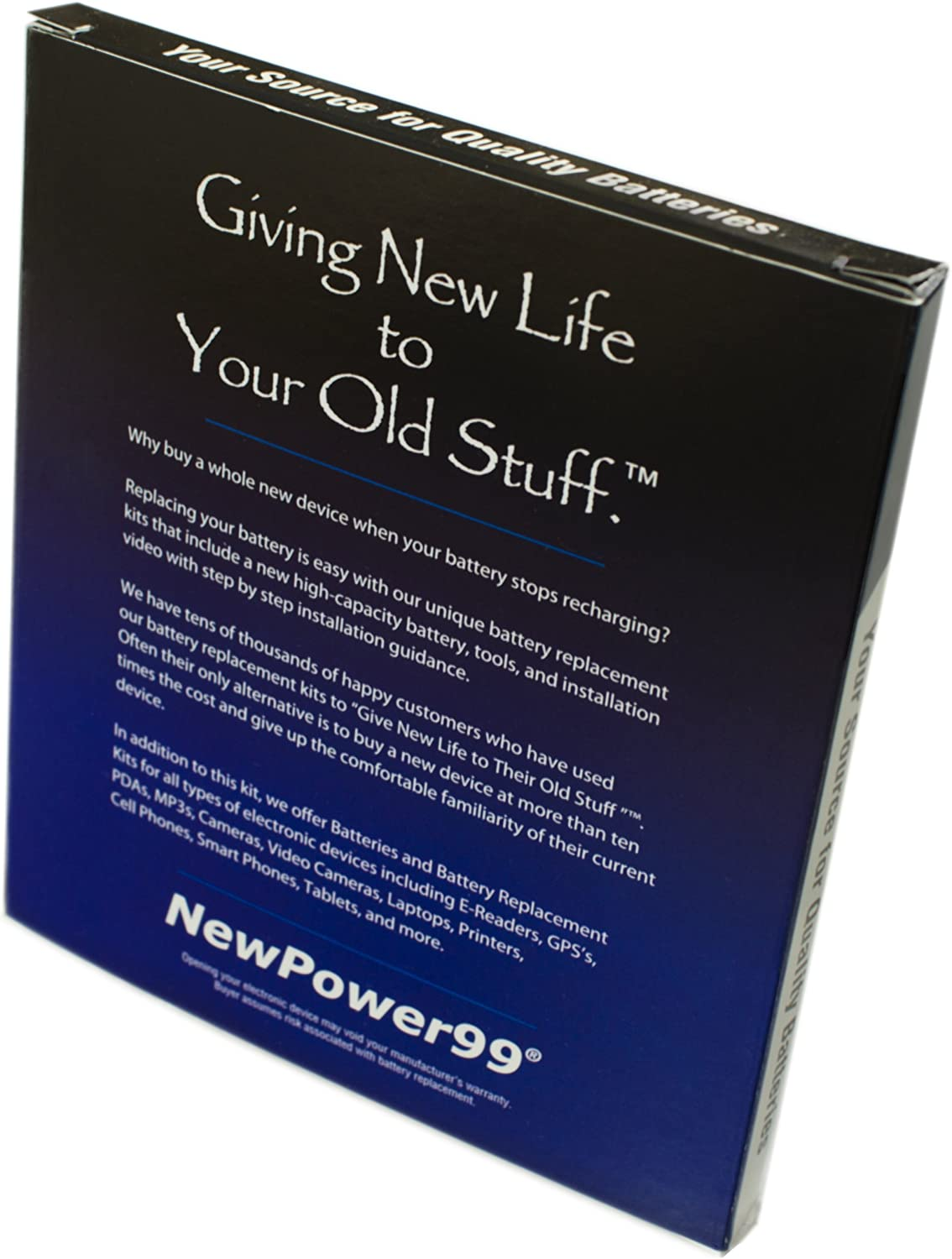 Tools and Extended Life Battery from NewPower99 Battery Kit for Garmin Drive 60LMT with Video Instructions