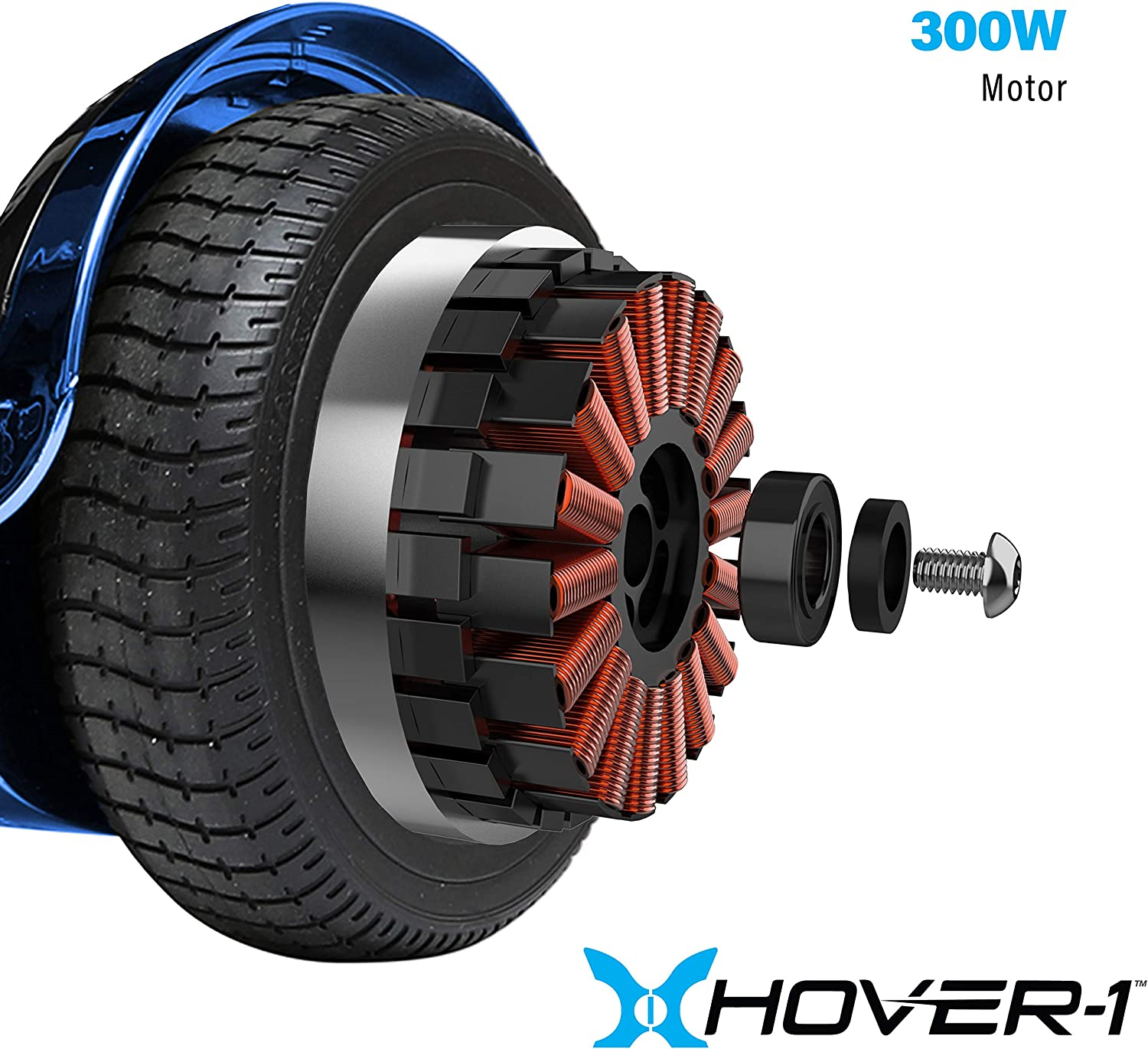 Hover-1 Chrome Electric Hoverboard Scooter Blue - 2