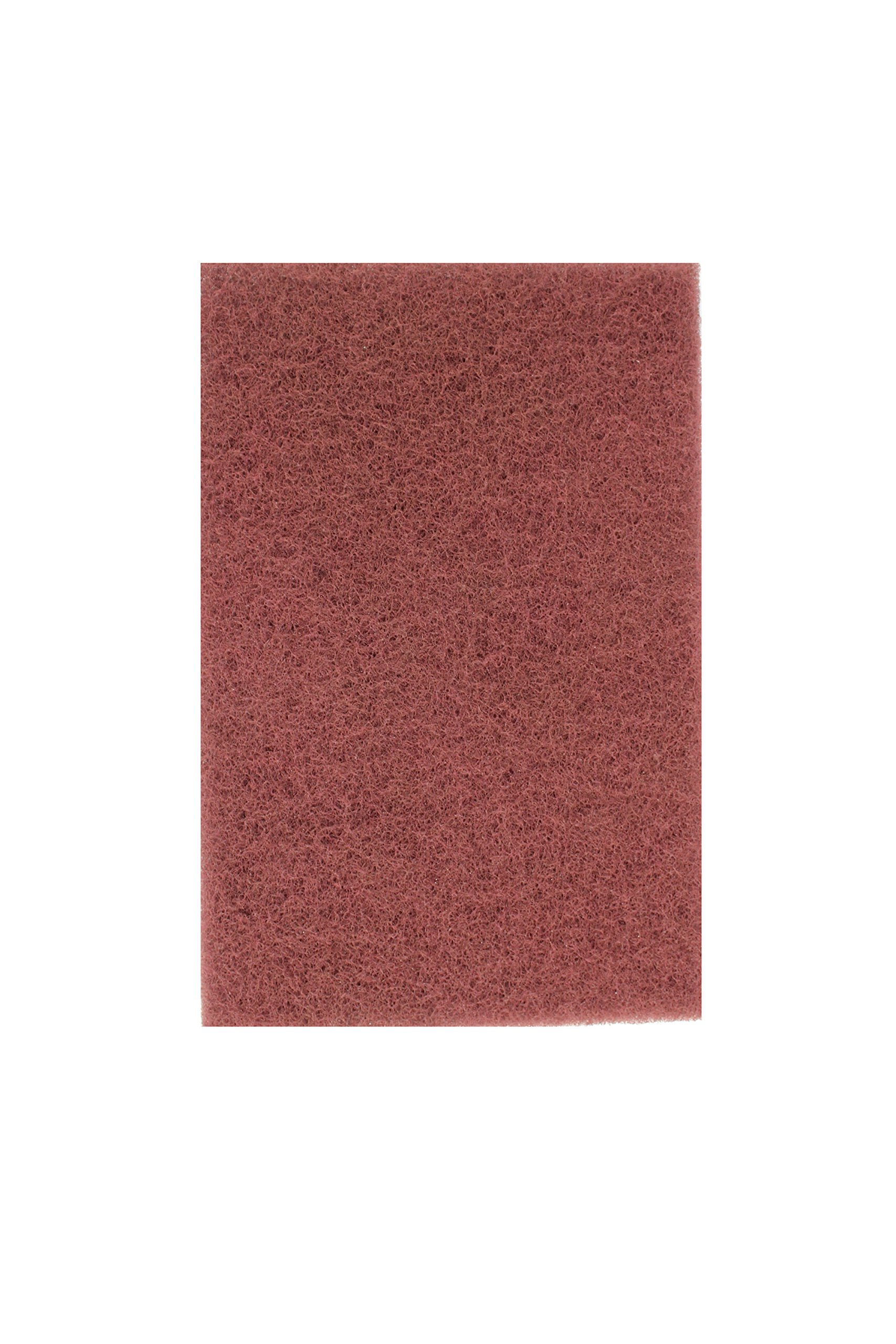 Sunmight 80100 1 Pack Maroon 6'' x 9'' Scuff Pad (Very Fine)