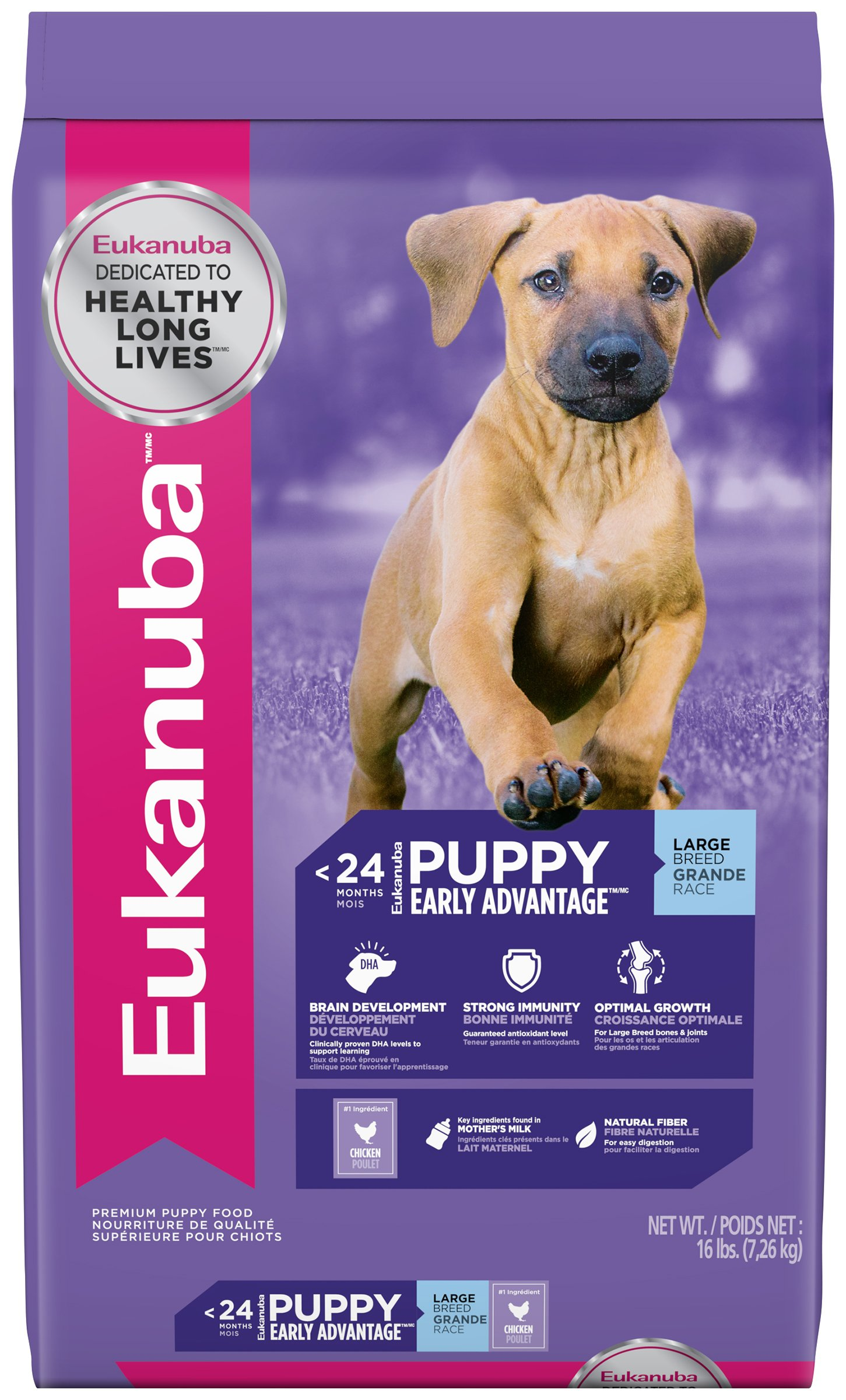 EUKANUBA Puppy Dry Dog Food Standard Packaging Chicken - Large Breed 16 lbs.