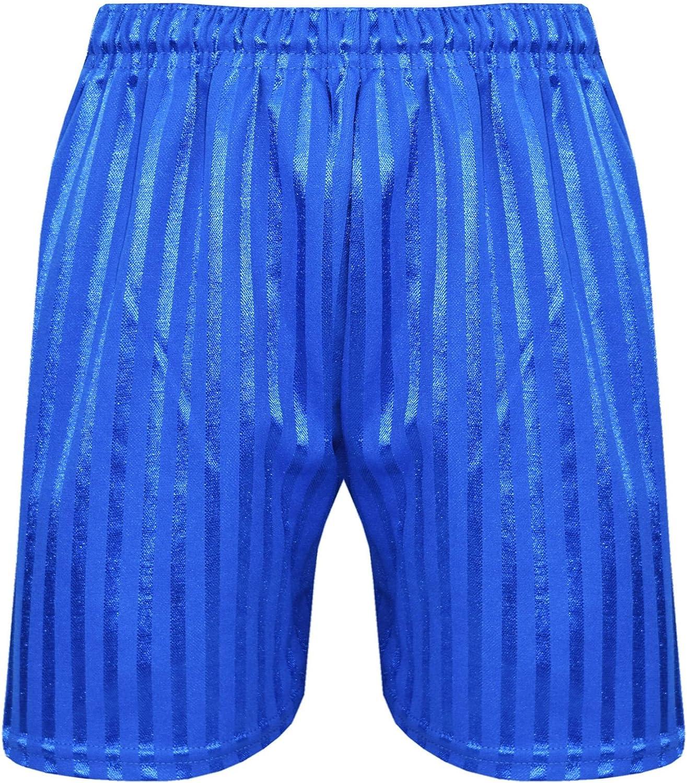 13 Years, Green - 2 Pack ShopOnline Unisex School Pe Shorts Shadow Stripe Boys Girls Kids Back to School Gym Football Games Sports Pull Up Shorts