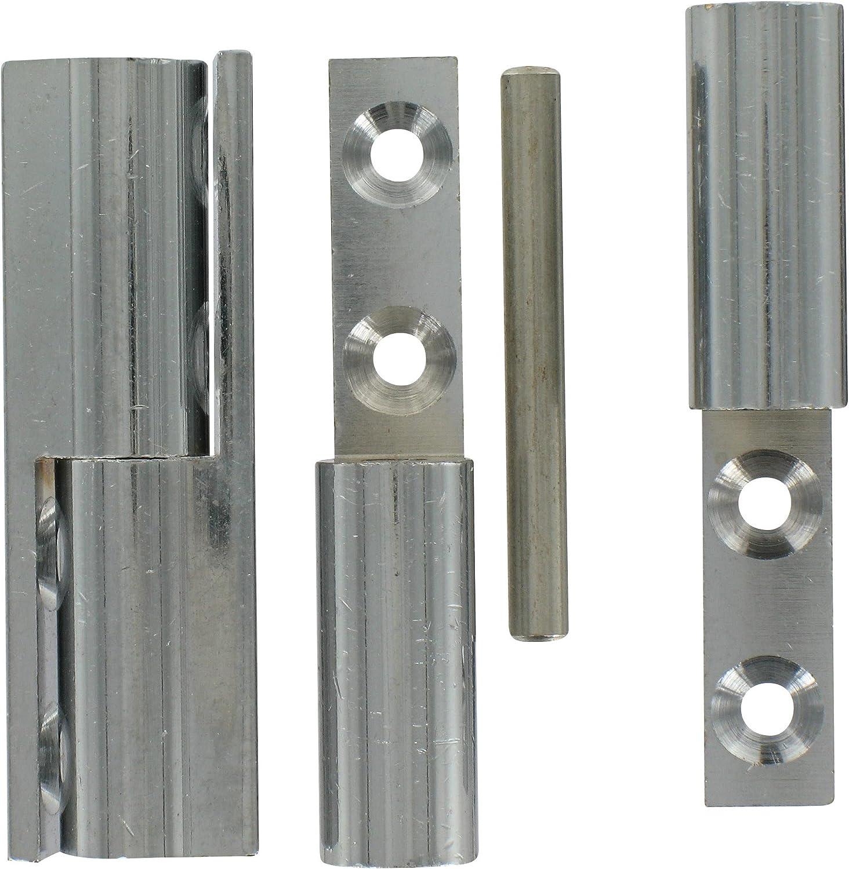 Paumelle noeud laiton chrom/é PVM Vendu par 2 Hauteur 50 mm